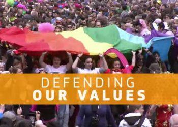 Un frame del video che riassume i temi che Ursula von der Leyen toccherà nel suo discorso sullo stato dell'Unione Europea 2021