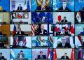 Il leader del G20 in collegamento per il summit sull'Afghanistan (foto Ansa)