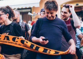 Gigi Amicone al pellegrinaggio Macerata - Loreto nel 2019 (Foto Leonora Giovanazzi)