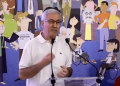 don Ettore Cannavera durante il suo intervento al Congresso dell'associazione Luca Coscioni