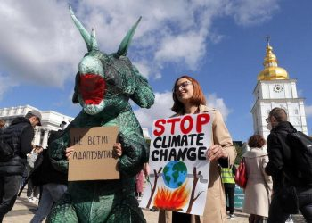 Protesta in Ucraina per il clima in vista della Cop26