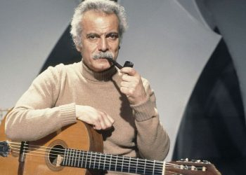 Il cantautore francese Georges Brassens