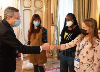 Mario Draghi incontra Greta Thunberg
