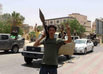 Ribelli appoggiati da Erdogan in Libia festeggiano per la vittoria su Haftar