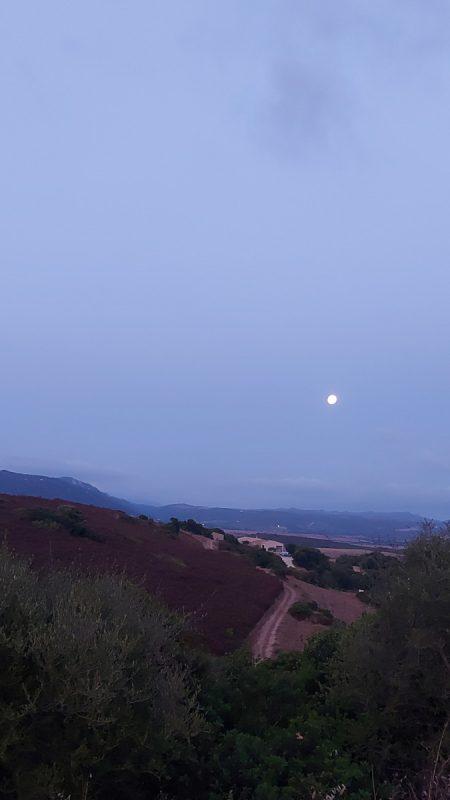 Tramonto della luna in Sardegna