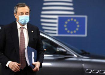 Mario Draghi arriva a Bruxelles per il Consiglio europeo