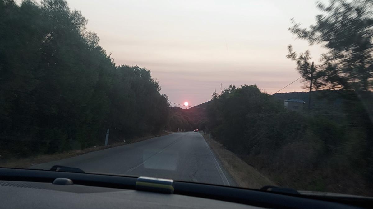Sole all'alba in Sardegna