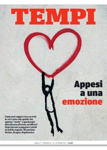 La copertina del numero di ottobre 2021 di Tempi